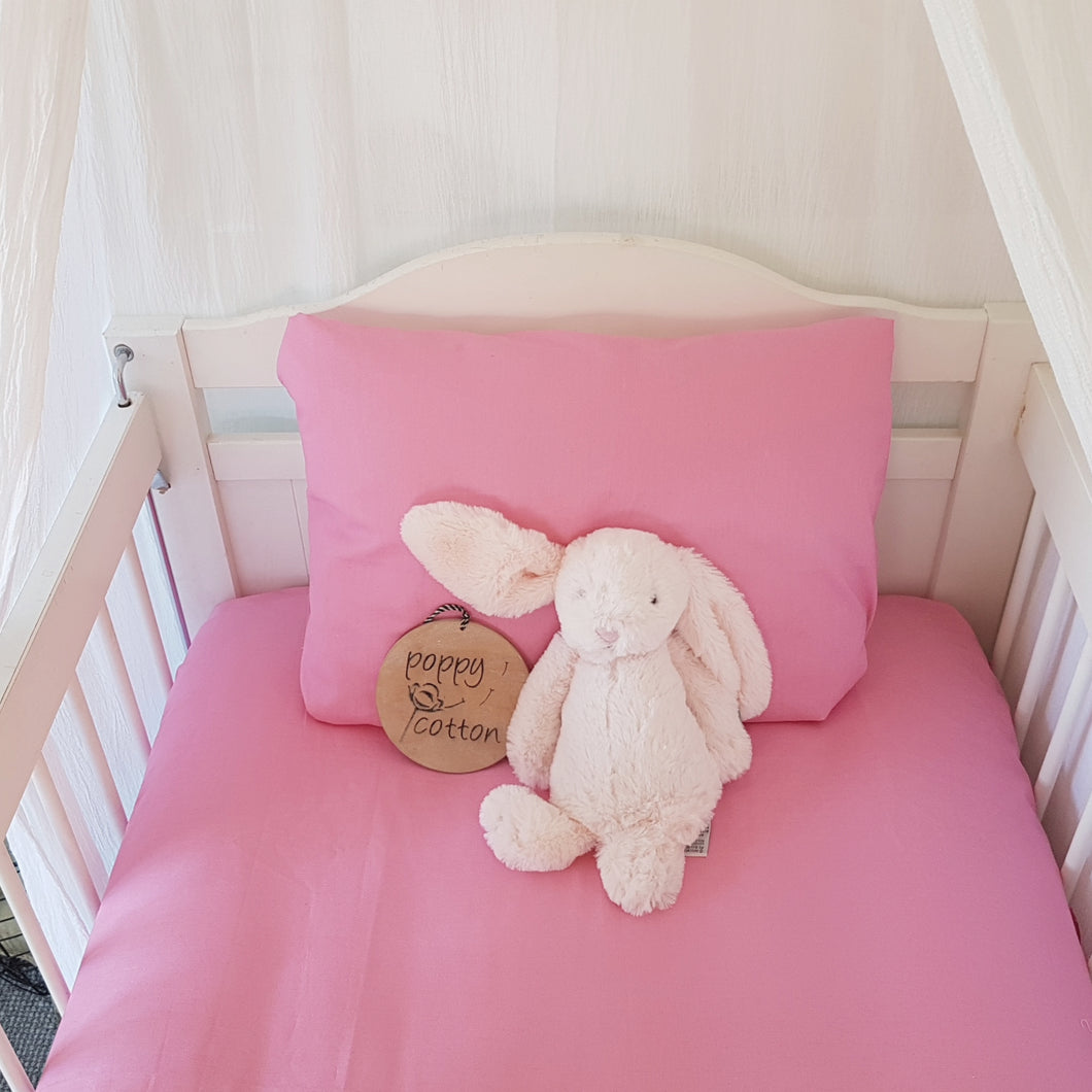 Fitted Bassinet/Cot Sheet - Sorbet Pink