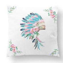 Load image into Gallery viewer, Cushion Cover - Headdress - Aqua_Pink
