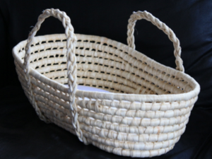 Dolls Natural Moses Basket with Mattress