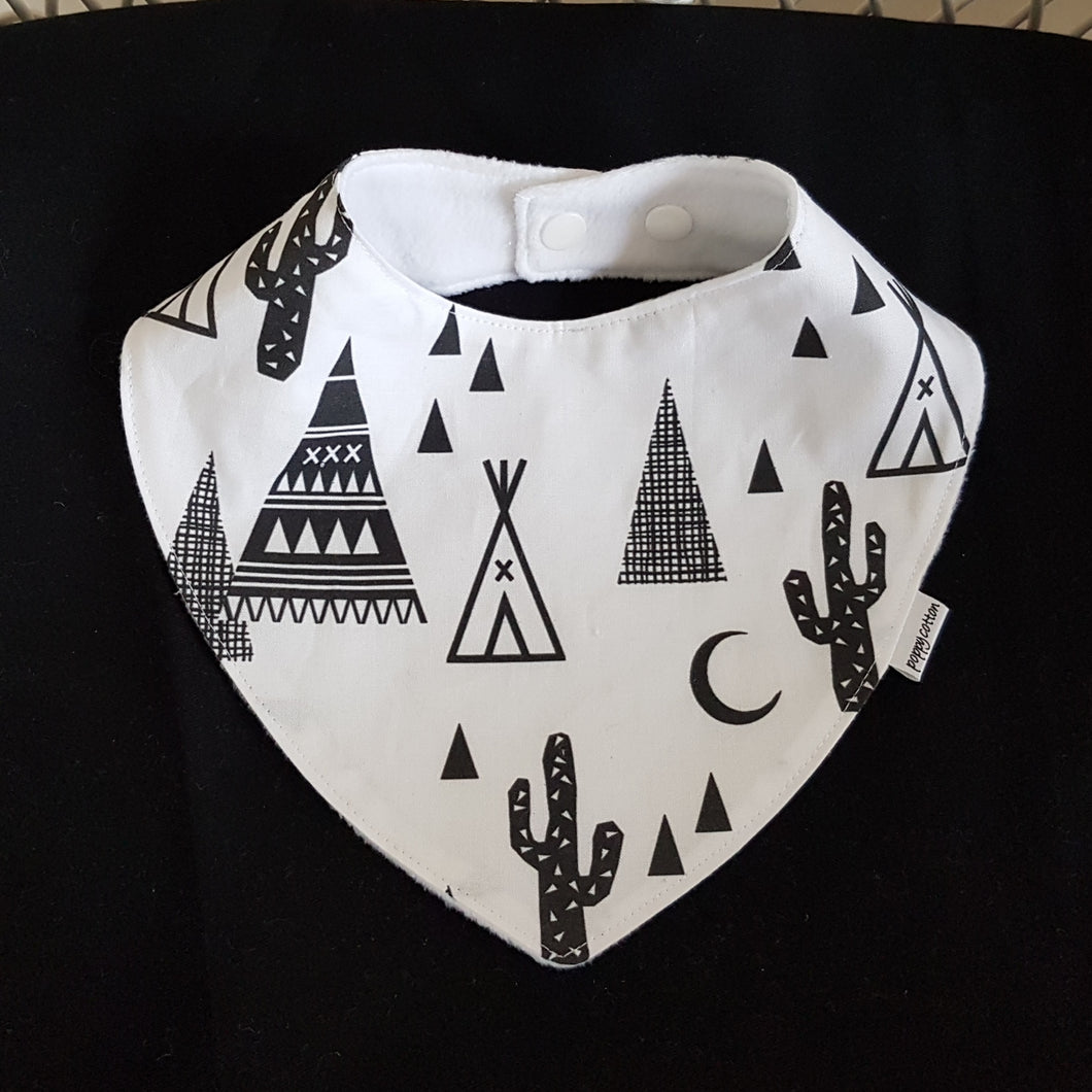 Dribble Bib - Teepee and Cactus