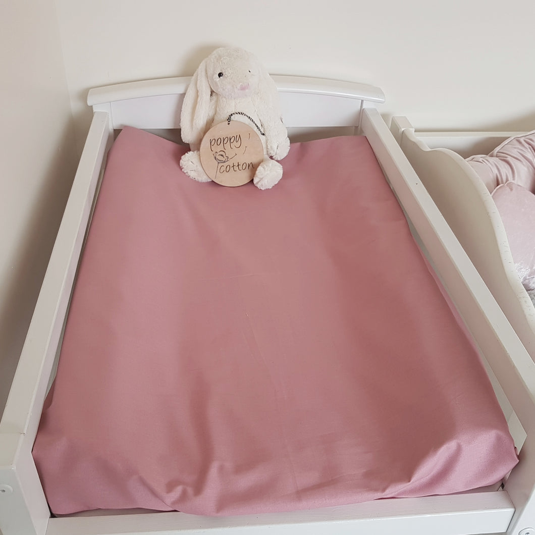 Change Mat Cover / Bassinet Sheet - Dusky Pink