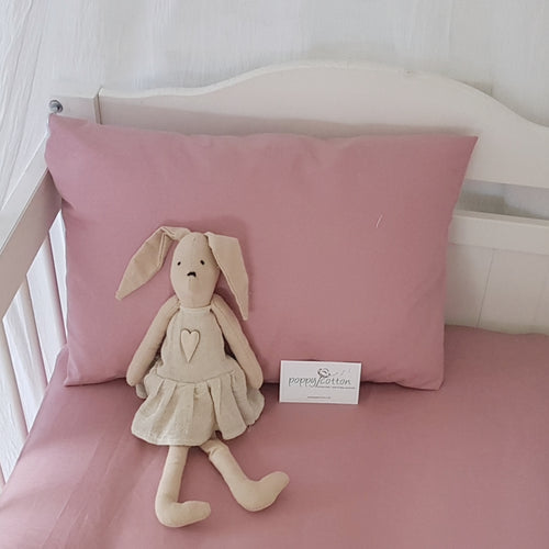 Toddler Pillow Case - Dusky Pink