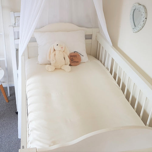 Fitted Cot Sheet - Vanilla Cream