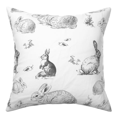 Cushion Cover - Grey Bunnies