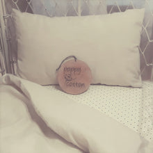 Load image into Gallery viewer, Toddler Pillow Case - Linen - Natural with Personalised name option.
