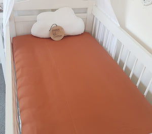 Fitted Cot Sheet - Spice