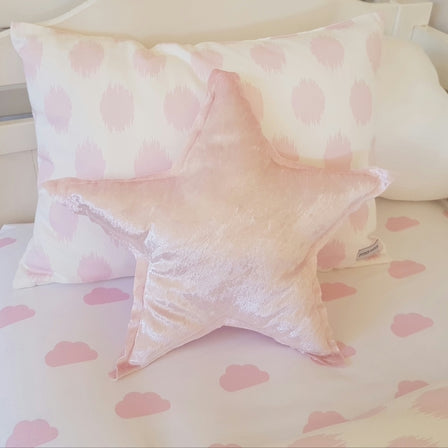Pink Velvet Star Cushion