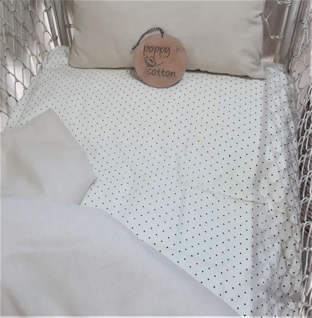 Fitted Cot Sheet - French Vanilla