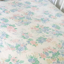 Load image into Gallery viewer, Vintage Fitted Cot Sheet - Florals & Bows