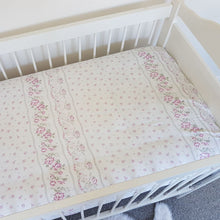 Load image into Gallery viewer, Vintage Fitted Cot Sheet - Dusky Lilac