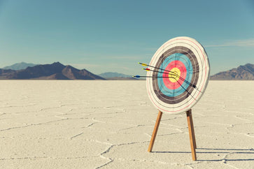 a dartboard symbolizing development goals for employees