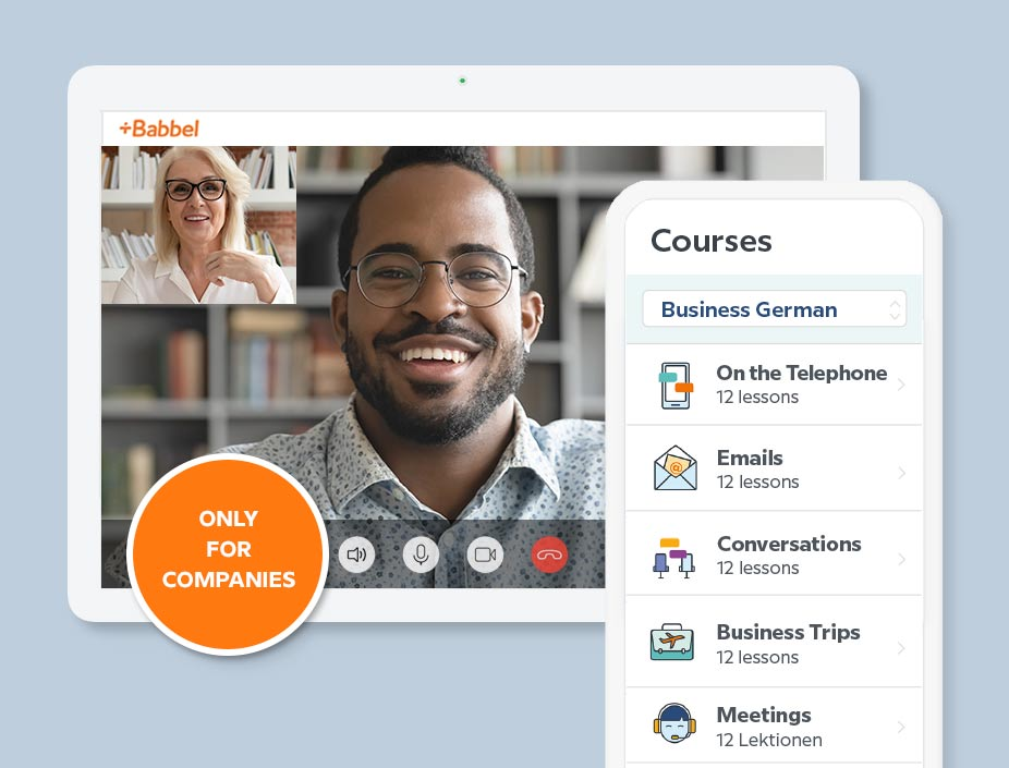 Babbel for Business product Babbel Intensive with 1:1 online lessons