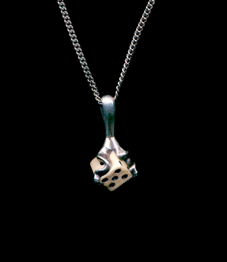 BONE DICE NECKLACE