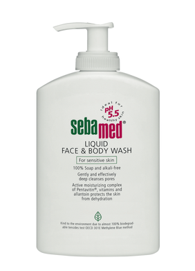 Sebamed Face & Body Wash 1 ltr (with pump)