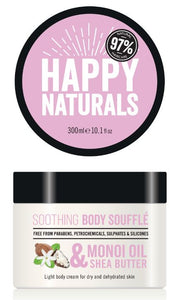 Happy Naturals Monoi Oil & Shea Butter Soothing Body Souffle 300ml