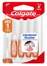 Load image into Gallery viewer, Colgate Interdental Brushes Size 1 Pkt 8