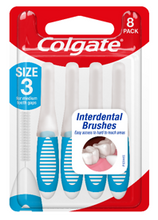 Load image into Gallery viewer, Colgate Interdental Brushes Size 3 Pk 8
