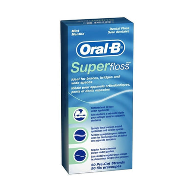 ORAL B Super Floss Unwaxed Box of 50