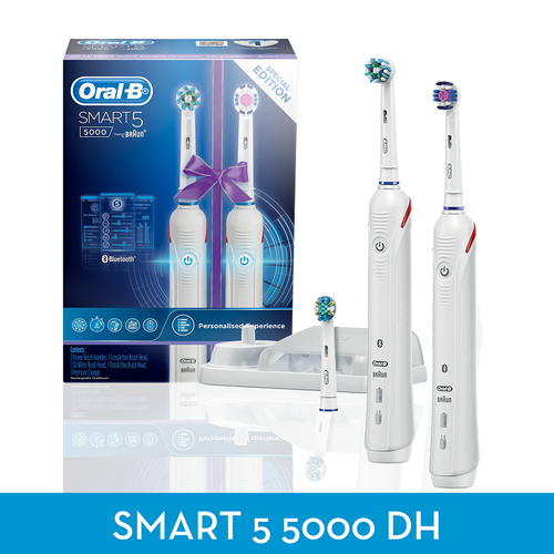 ORAL B Smart 5000 Power Brush White Dual Handle