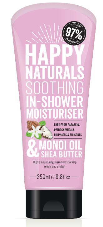 Happy Naturals Monoi Oil & Shea Butter Soothing In-Shower Moisturiser 250ml