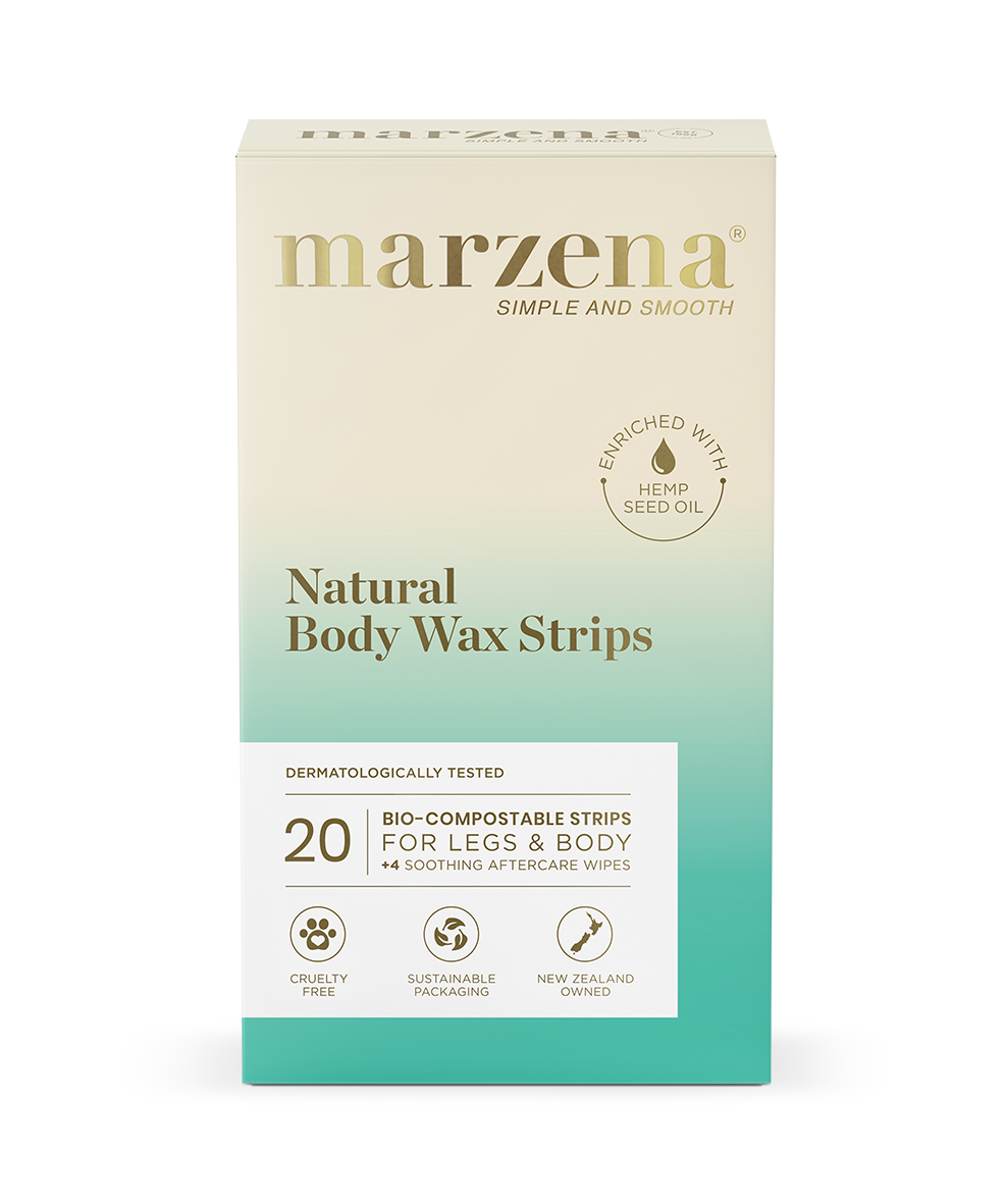 Marzena Natural Body Wax Strips with Hemp Oil pack 20