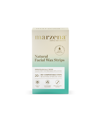 Marzena Natural Facial Wax Strips with Hemp Oil Pack 20