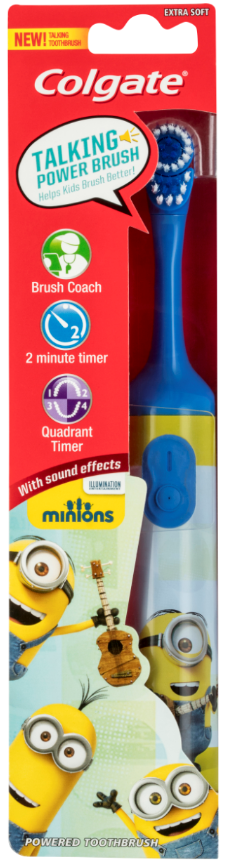 Colgate Minions Interactive Talking Battery Toothbrush