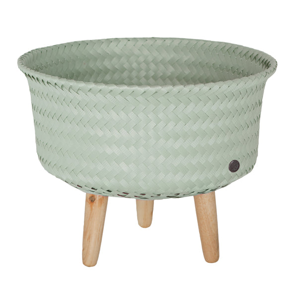 Greyish Green Recycled Basket Small
