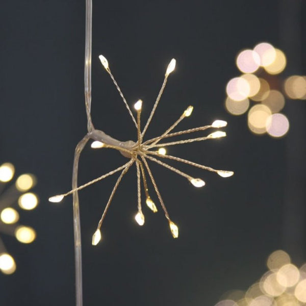 Silver Starburst Indoor or Outdoor Lights