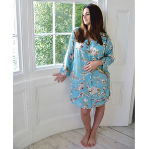 Blue Blossom nightshirt by Powell Craft