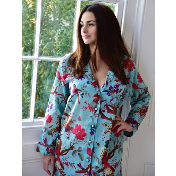 Turquoise Floral nightshirt