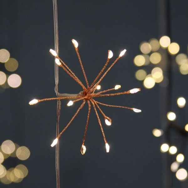 Copper Starburst Chain Lights (mains )