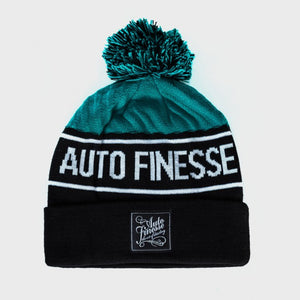 Bobble Knitted Beanie (Teal)