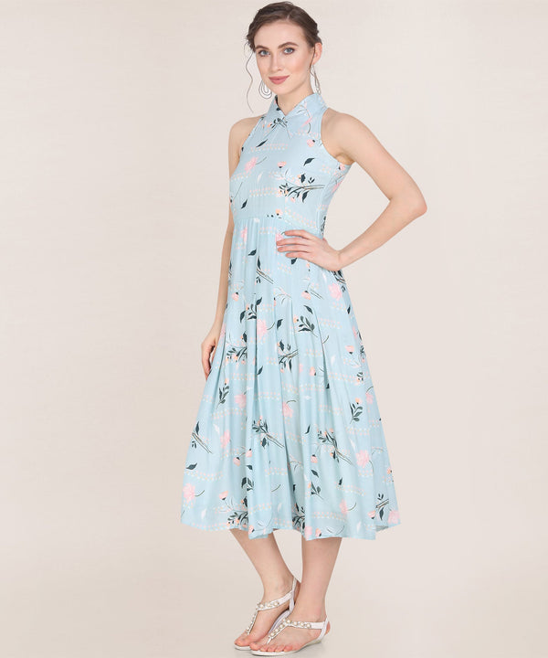Halter Neck Floral Dress - Isha Studio Dress Isha Studio