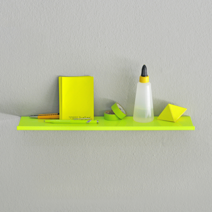 Z SHELF I - Minimalistisches Regal in Z-Form___Color---Neongelb