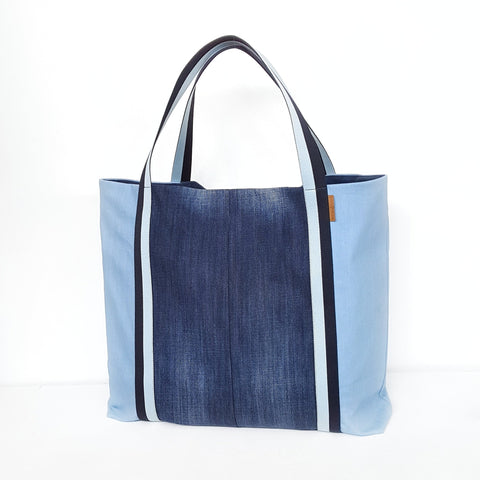 Thumbnail for BEACH BAG - Denim - myconics