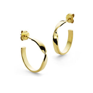 CARMEN HOOPS - Ohrringe aus Sterlingsilber___Color---Gold