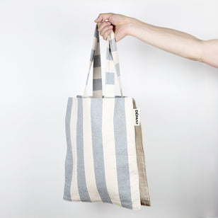 FRIDA - vegane Hobo Tasche___Color---Stripes___Material---recycelte Baumwolle/Jeans