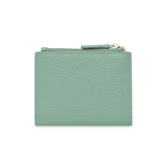 COIN WALLET - Geldbeutel aus recyceltem Leder___Color---Mojito Green