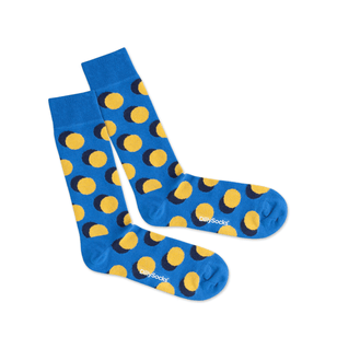 Color Dots - Socken aus Bio-Baumwolle___Size---41-46___Color---blau - gepunktet