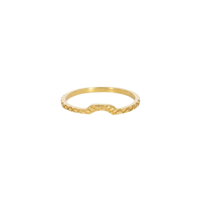 EVKA - Ring aus recyceltem Sterlingsilber___Color---Gold