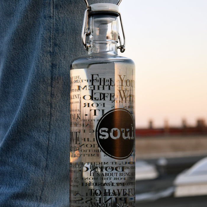 FILL YOUR LIFE WITH SOUL - Trinkflasche - Glas - myconics