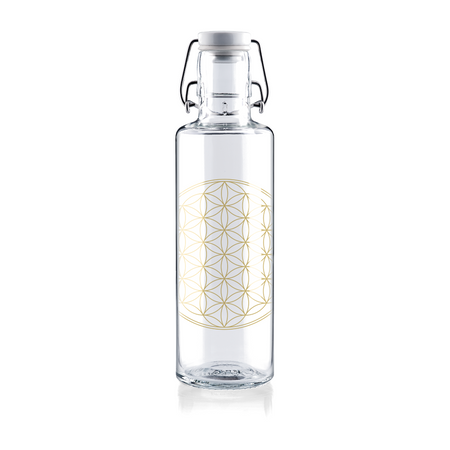 FLOWER OF LIFE - 0,6l Glasflasche