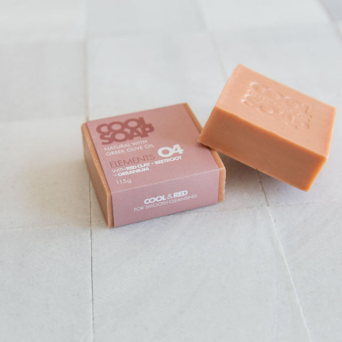 GERANIUM & RED CLAY - Seife - Olivenöl - myconics
