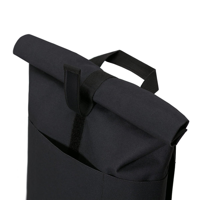 HAJO STEALTH - Rolltop Rucksack aus recyceltem Polyester___Color---Black