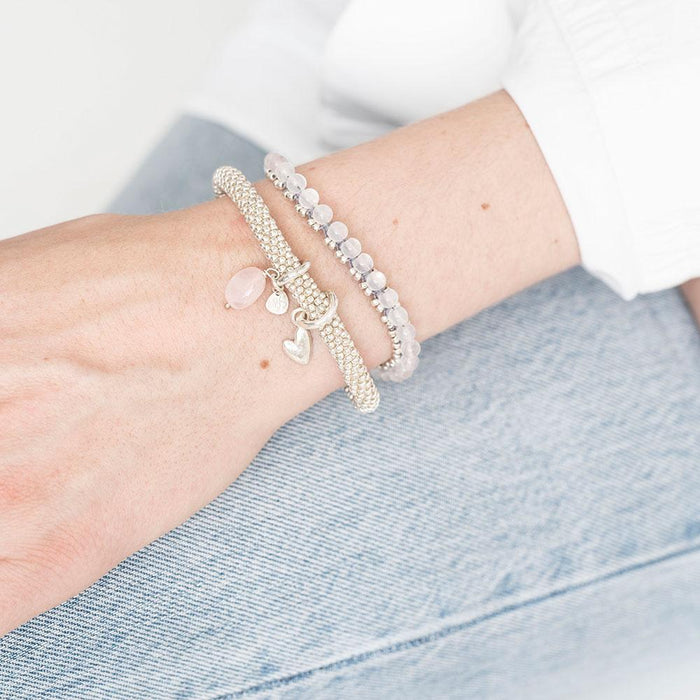 JACKY - Armband mit Edelsteinanhänger___Color---Silber