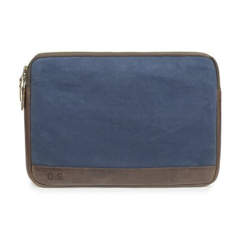 JAKE - 13 Zoll Laptop Sleeve aus Canvas und Leder___Color---Blau