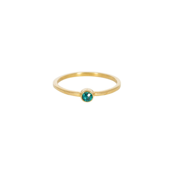 KEALA GREEN QUARZ - Ring aus Recyceltem Sterlingsilber___Color---Gold