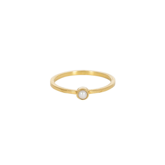 KEALA PEARL - Ring aus recyceltem Sterlingsilber___Color---Gold