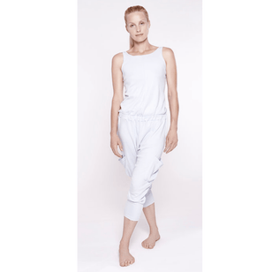 LOOSE - legerer Yogajumpsuit___Color---Weiß